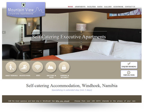 Mountain View Accommodation website