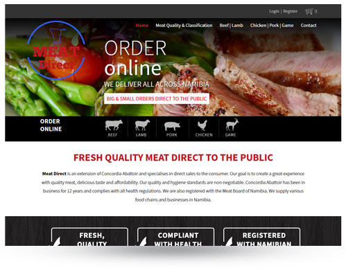Meat Direct - online meat shop/ordering