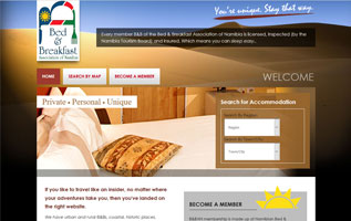 Namibia Bed and Breakfast - responsive design