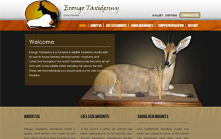 Erongo Taxidermy responsive website design