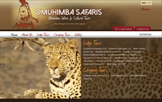 Omuhimba Safaris website